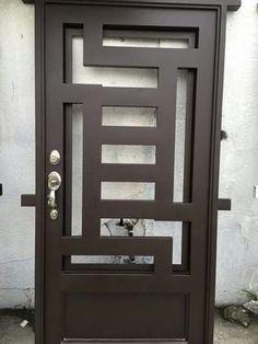Front Gate Design, Door Gate Design, Main Door Design, Hollow Metal Doors, Garage Door Makeover, Window Grill Design, Wrought Iron Doors, Iron Gates, Steel Doors