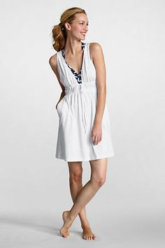 932bf793e9535 Swimsuit Coverup Women s Lightweight Jersey Cover-up Dress from Lands  End