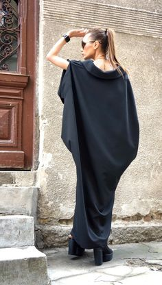 New Collection 2016 Maxi Dress / Black Kaftan / by Aakasha on Etsy