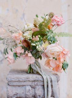 Blush wedding bouquet idea; photo: Jose Villa