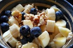 Easy and Healthy Flax, Oat and Fruit Power Breakfast Bowl