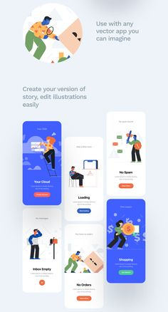 Unruly Illustrations in Illustrations on Yellow Images Creative Store - Mikael Degoy Site Web Design, Clean Web Design, Design Ios, Interface Design, Your Design, Design Thinking, Motion Design, Flat Design Inspiration, Business Web Design