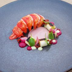 Lobster, leek, beet sherry, chorizo, potato mouselinne, sorrel