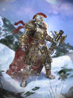 ArtStation - Warrior on snowed mountain, Hyun sung oh