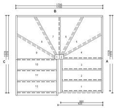 Trade Range S3W3W33N Winder Staircase L/H No Handrails