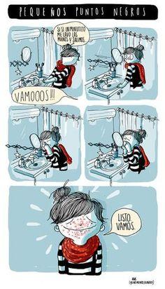 agustina guerrero · illustration: diario de una volátil · pequeños puntos negros · realidad :S