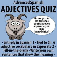 spanish 1 adjectives opposites quiz students need to make 10 pairs of opposites with the. Black Bedroom Furniture Sets. Home Design Ideas