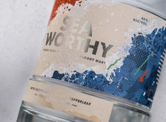 Squad Ink - Seaworthy Vodka #packaging #design packaging design blog World Packaging Design Society│Home of Packaging Design│Branding│Brand Design│CPG Design│FMCG Design