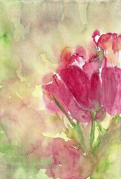 Frühling / Springtime / Primavera / Printemps / 春天 Painting Flowers, Watercolour, Watercolors, Spring, Flower Drawings