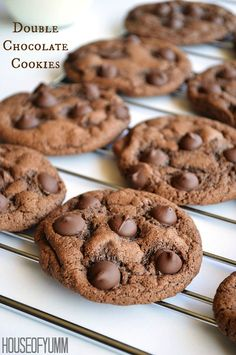 Best chocolate cookie ever! Thick, chewy, and bursting with chocolate flavor.