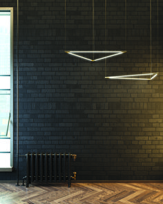Black Brick is a great way to modernize your home! Summit Brick has several dark brick, so you can find one that works the best for you. Painted Brick Walls, Exposed Brick Walls, Black Brick Wall, Black Walls, Facade Design, Tile Design, Black Radiators, Brick Interior, Interior Design Presentation