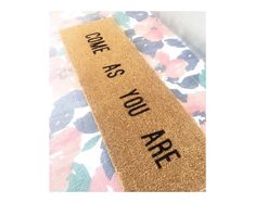 Featured listing image: come as you are | Doormat