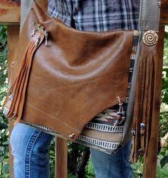 Purse Messenger Bag Large Southwestern Style by SpiritBearWest, $450.00
