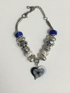 74611b5111492 Cowboys Inspired Bracelet Adjustable Up to 8 Inches Dallas Cowboys Shirts