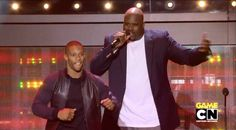 """Victor Cruz dances with Shaquille O'Neal at the """"Hall of Game Awards."""" http://www.sportsgrid.com/video/victor-cruz-salsa-hall-of-game-awards-video/"""