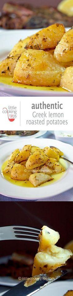 make without oil-Greek lemon garlic roasted potatoes (patates fournou)