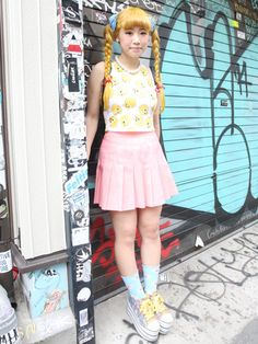 The future is now Gyaru Fashion, Harajuku Fashion, Fashion Outfits, Japanese Street Fashion, Tokyo Fashion, Rock And Roll, Tokyo Street Style, Japan Street, Looks Style