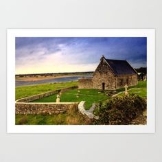 Ancient Irish Monastery Art Print by Nature's Images By Design - $19.00- I love the colors