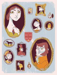 Pride and Prejudice art print by Anne Benjamin