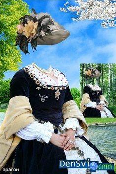 Фотошоп костюмы для девочек барышня