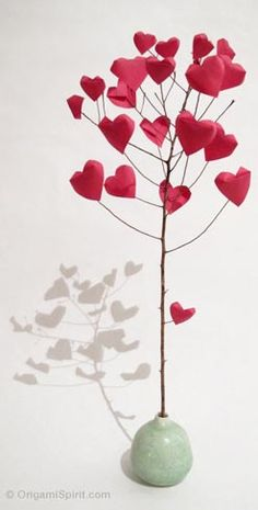 Origami Tree of Hearts with how-to video