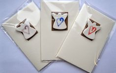 Handmade ceramic angel cards  Pack of 3 by RebeccaSagooCeramics