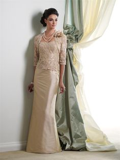 lace mother of the bride dresses Picture - More Detailed Picture about 2013 Taffteta Champagne Floor Length Vintage Elegant Appliqued Beaded Lace Full Length With a Jacket Mother Of the Bride Dresses Picture in Mother of the Bride Dresses from Suzhou Bomei Garments Co., Ltd.