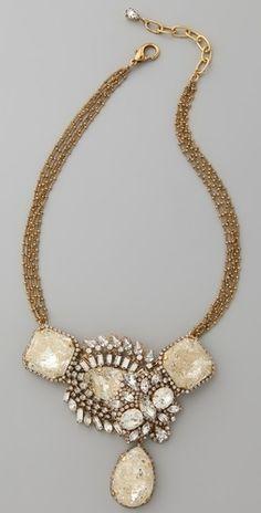 Erickson Beamon Gold Digger Necklace - StyleSays