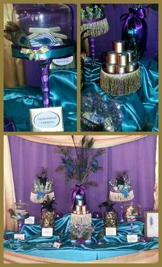 PEACOCK THEME CANDY BUFFET