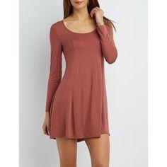 Charlotte Russe Long Sleeve Shift Dress