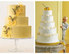 Sweet Violet Bride - sliced lemon! http://sweetvioletbride.com/2013/09/citrus-inspired-wedding-cakes/
