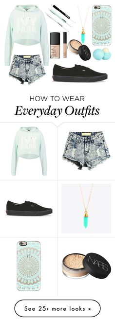 """""""Outfit 145"""" by sarahcb2002 on Polyvore featuring Ivy Park, Casetify, NARS Cosmetics, River Island, Vans, BeautyTrend, love, women, fashionset and newchic"""