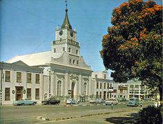 Martin Melck complex in Strand street. | A good view of the Lutheran church taken in 1963. This whole complex was built in the late 1780's