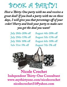 Thirty One Party Ideas | Nicole's Thirty-One Gifts: July 2012