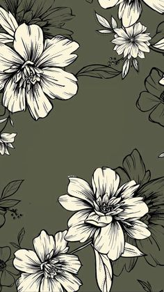 Hibiscus pattern by smileysunday - Hand illustrated floral pattern in orange and mauve on a teal background on fabric, wallpaper, and gift wrap. Bold floral pattern by indie pattern designer smileysunday. Cute Backgrounds, Phone Backgrounds, Cute Wallpapers, Wallpaper Backgrounds, Floral Wallpapers, Wallpaper Quotes, Flower Wallpaper, Screen Wallpaper, Pattern Wallpaper
