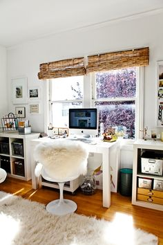 Home Office Design Ideas Pictures. Home Office Desk Ideas. 78919749 Workspace Ideas For Home Offices. 5 Home Office Decorating Ideas Cozy Home Office, Home Office Space, Office Workspace, Home Office Decor, Home Decor, Office Ideas, Office Spaces, Desk Space, Bedroom Office