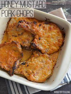 A creamy honey mustard sauce turns these plain pork chops into a winning weeknight meal. BudgetBytes.com