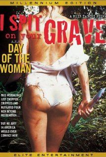 I Spit on Your Grave.  With few redeeming qualities - moral or cinematic - this movie is, or was, a boon to every 13 year old kid who managed to rent an uncut version from the bored teenage loser at the local video store. With gratuitous nudity and violence (the entire movie is gratuitous nudity and violence), it purports to be a disturbing tale of rape and revenge. Actually, it's a poorly acted, low-budget boob and blood fest that is too stupid to be serious. As a 13 year old dork, I loved…