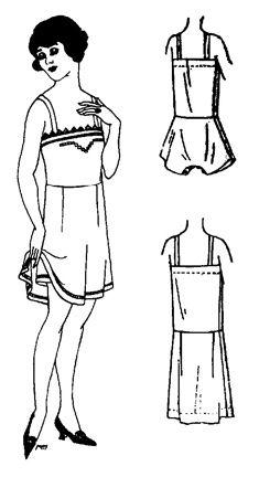 Past Patterns: #501 Flapper Combination Underwear