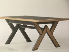 Farmhouse Dining Room Table, Diy Dining Table, Trestle Dining Tables, Welded Furniture, Iron Furniture, Steel Furniture, Tea Table Design, Wood Table Design, Metal Table Legs
