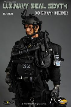 ToysCity US Navy SEAL Delivery Vehicle Team ONE (SDVT-1) Combat Diver action…