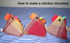 Make a chicken doorstop by PorTusManos | Sewing Pattern