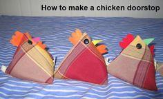 Make a chicken doorstop pattern on Craftsy.com