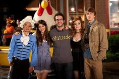 Josh Schwartz, Victoria Justice, Osric Chau, Thomas Mann, and Jane Levy in Fun Size Jane Levy, Movie Halloween Costumes, Hits Movie, My Only Love, Fun Size, Victoria Justice, Event Photos, Famous Women, Character Inspiration