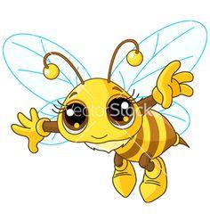 Cartoon bee vector 800549 - by Dazdraperma on VectorStock®