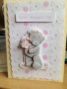Handmade card using Tatty Teddy decoupage Mothers day