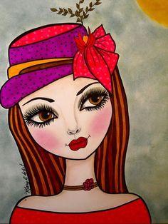 Ideas For Painting Face Girl Mixed Media Arte Pop, Eye Art, Whimsical Art, Portrait Art, Rock Art, Painting Inspiration, Female Art, Painting & Drawing, Art Journals