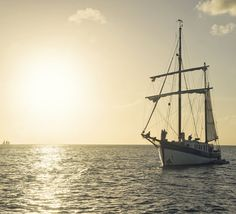 Nothing like a couple of boat kids watching the sun go down over the Caribbean Sea.  | mjsailing.com
