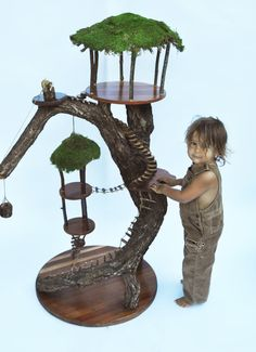 Extra Large Fairy House by duffyfamilycreations on Etsy