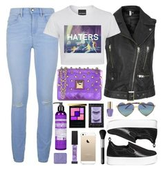 """""""HATERS"""" by touxe ❤ liked on Polyvore featuring Juicy Couture, Topshop, Pedder Red, Hervê Guyel, Wildfox, Yves Saint Laurent, Dr. Bronner's, Urban Decay, NARS Cosmetics and L'Oréal Paris"""